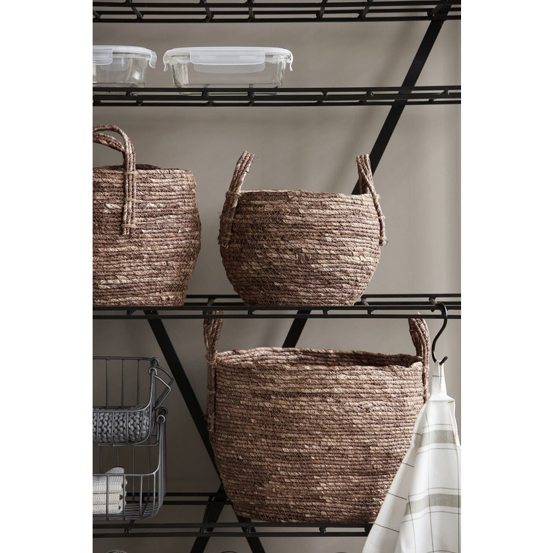 House Doctor-collectie Basket, Arran, Red/Brown, Set of 3 sizes