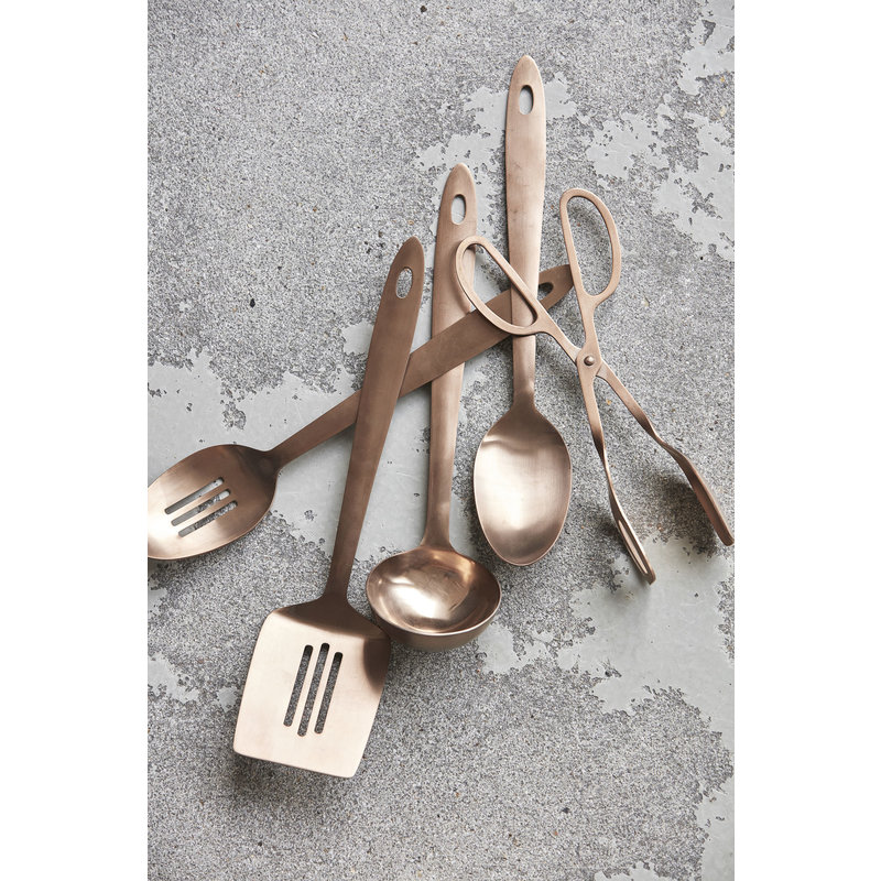 House Doctor-collectie Kitchen tools, Take, Copper finish, 5 pcs/pack