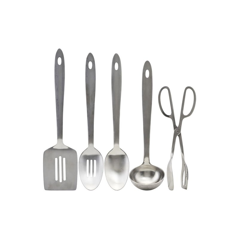 House Doctor-collectie Kitchen tools, Take, Silver finish, 5 pcs/pack
