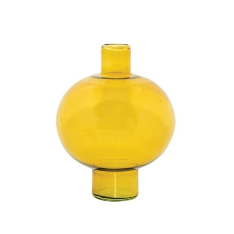 Urban Nature Culture-collectie Vase recycled glass round amber green
