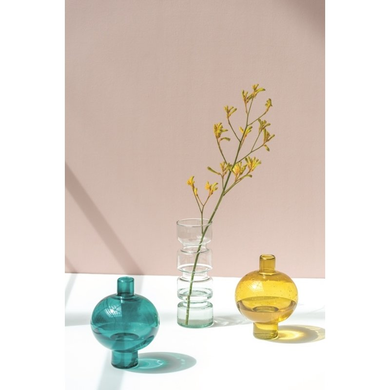 Urban Nature Culture-collectie Vaas rond recycled glas amber groen