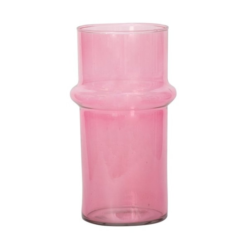 Urban Nature Culture-collectie Vase recycled glass pink