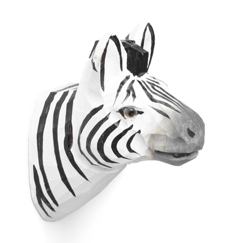 ferm LIVING-collectie Zebra wandhaak hand carved