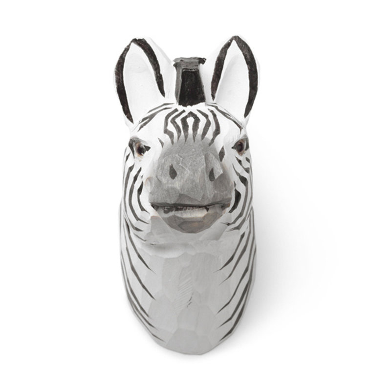 ferm LIVING-collectie Animal Hand-carved Hook - Zebra