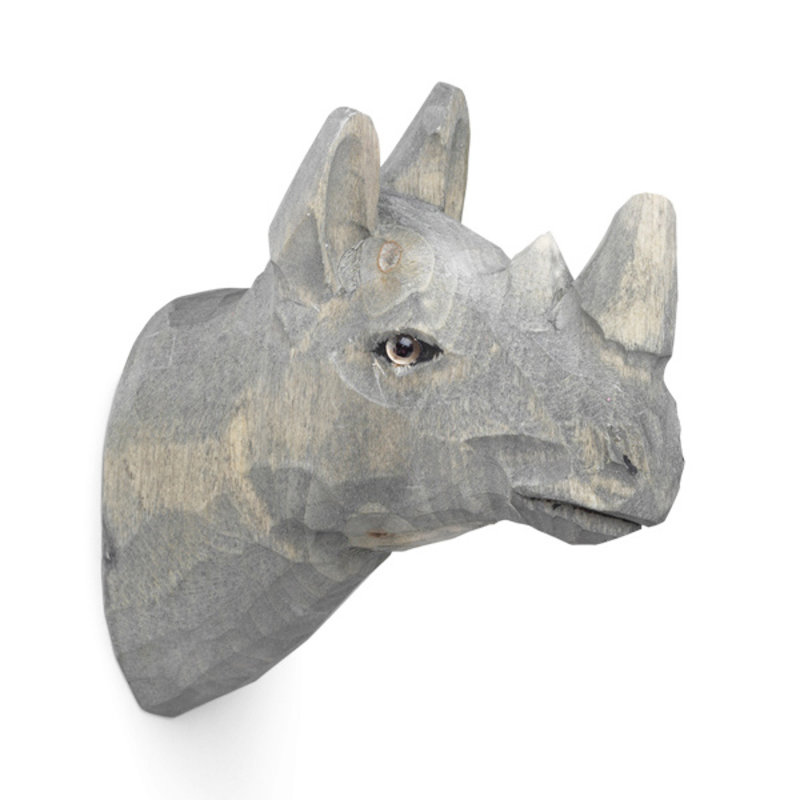 ferm LIVING-collectie Animal Hand-carved Hook - Rhino