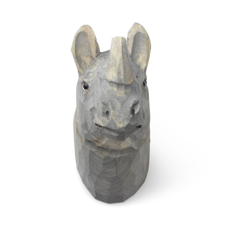 ferm LIVING-collectie Neushoorn wandhaak hand carved