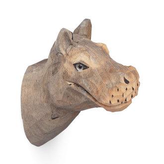 ferm LIVING Nijlpaard wandhaak handcarved