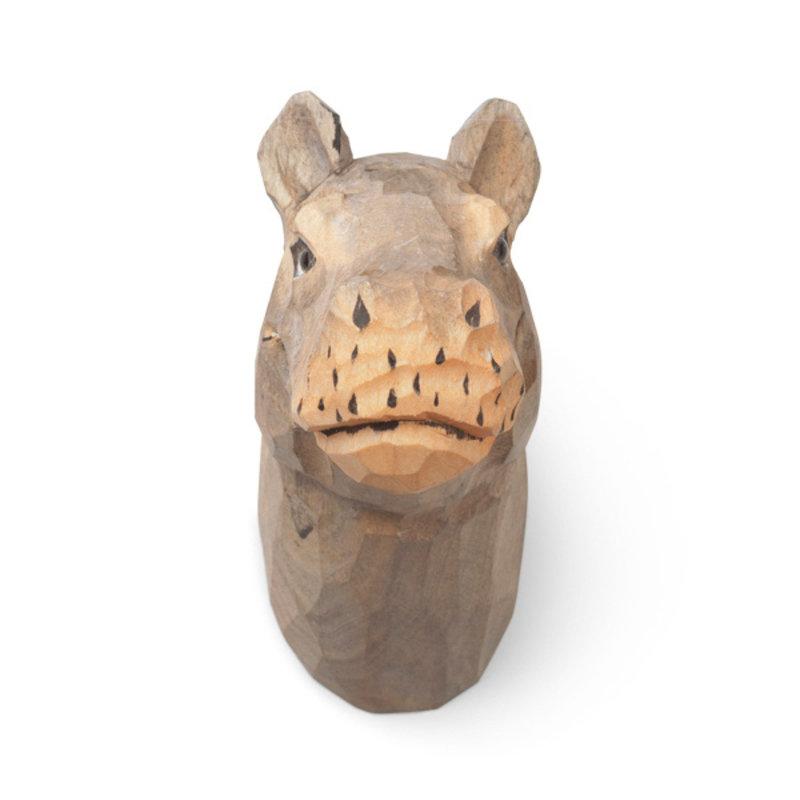 ferm LIVING-collectie Nijlpaard wandhaak handcarved