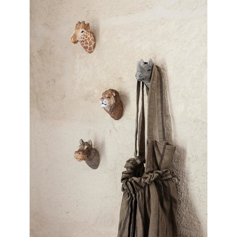 ferm LIVING-collectie Giraf wandhaak hand carved