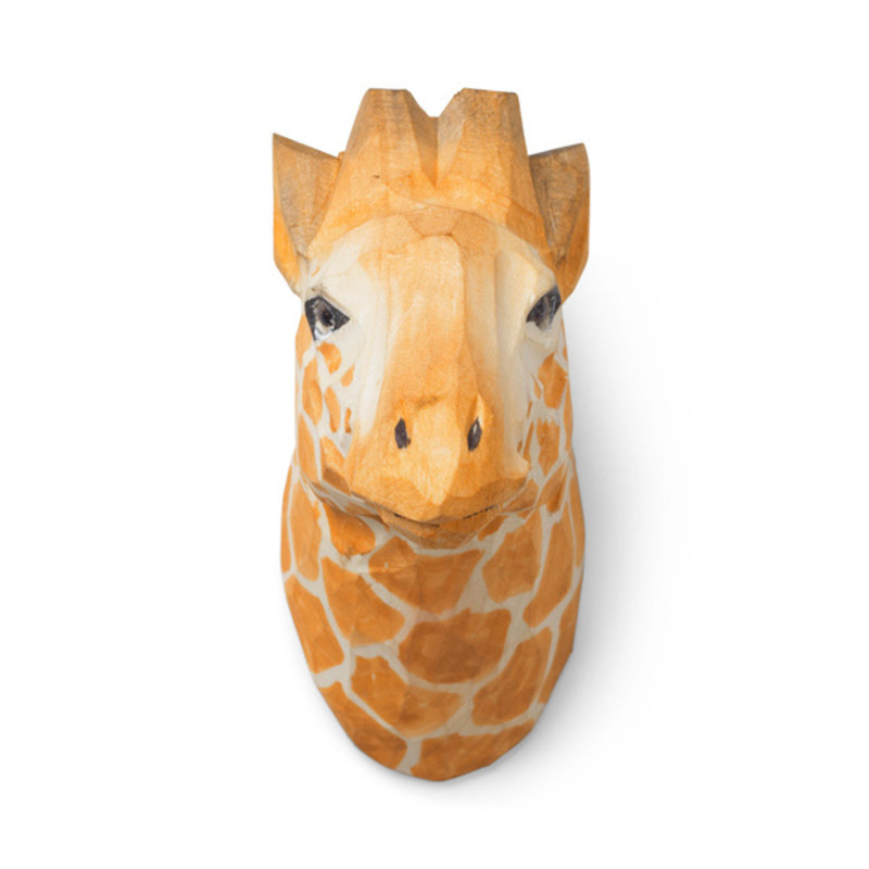 ferm LIVING-collectie Animal Hand-carved Hook - Giraffe