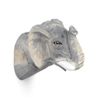 ferm LIVING Animal Hand-carved Hook - Elephant