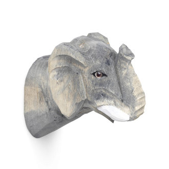 ferm LIVING Olifant wandhaak hand-carved