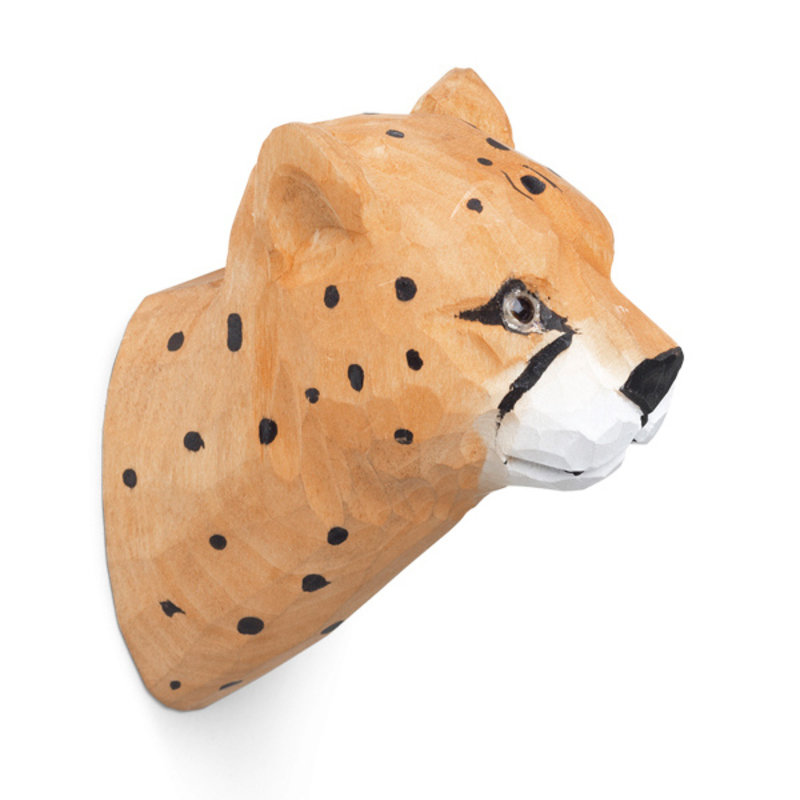 ferm LIVING-collectie Animal Hand-carved Hook - Cheetah