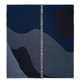 ferm LIVING Bedsprei Vista donkerblauw