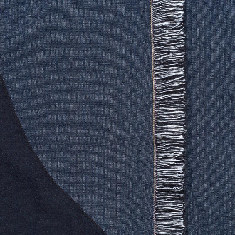 ferm LIVING-collectie Bedsprei Vista donkerblauw