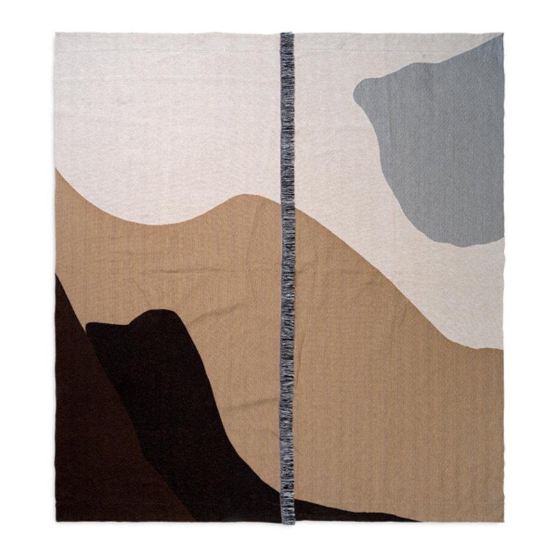 ferm LIVING-collectie Bedsprei Vista zand