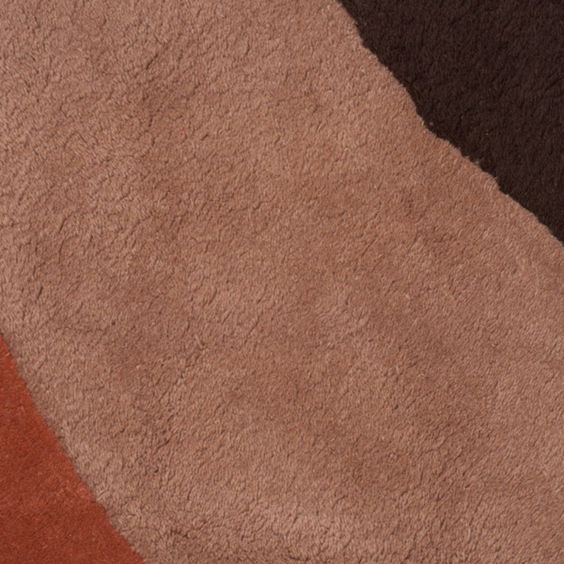 ferm LIVING-collectie View Tufted Rug - Red Brown