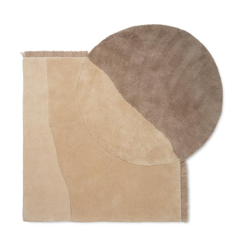 ferm LIVING-collectie Vloerkleed View Tufted beige