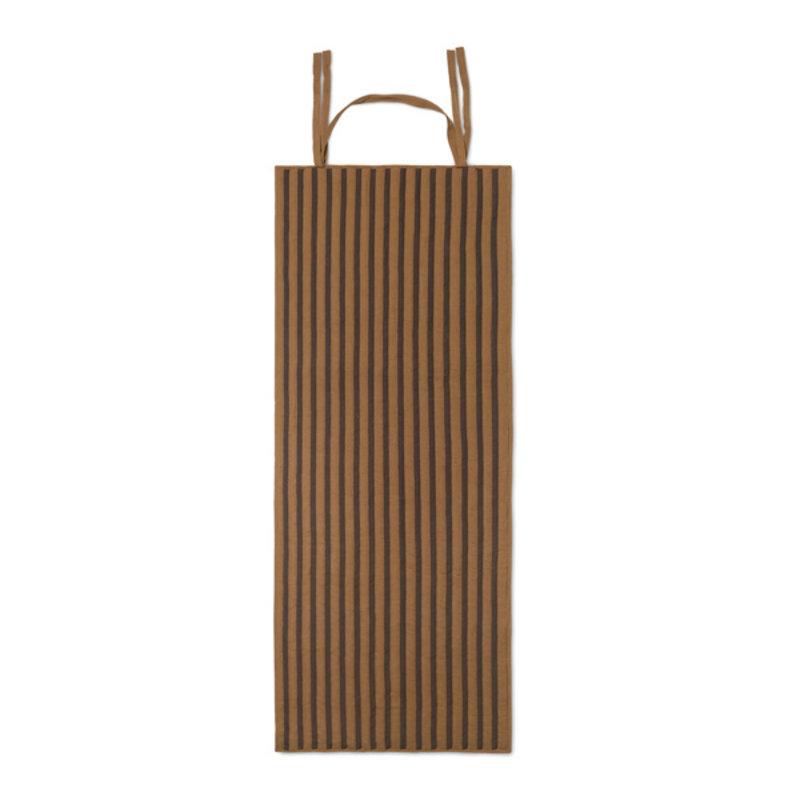 ferm LIVING-collectie True draagbare mat Sugar Kelp/zwart