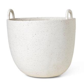 ferm LIVING Speckle Pot L Off-White
