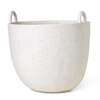 ferm LIVING Speckle Pot Large Off-White