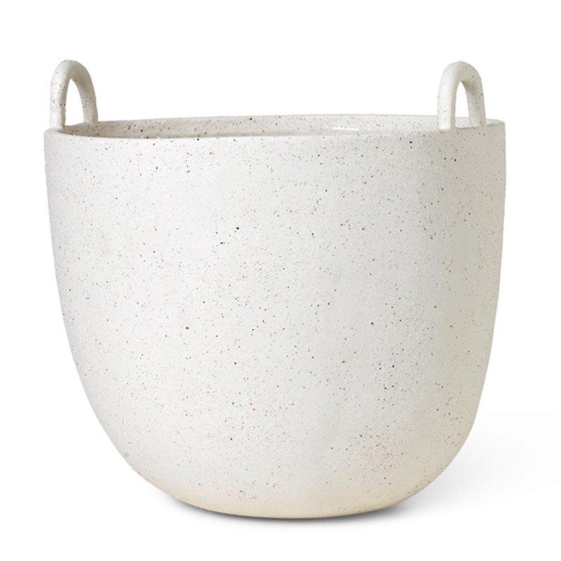 ferm LIVING-collectie Speckle Pot L Off-White