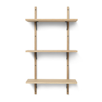 ferm LIVING Sector T/N - Oak - Black Brass