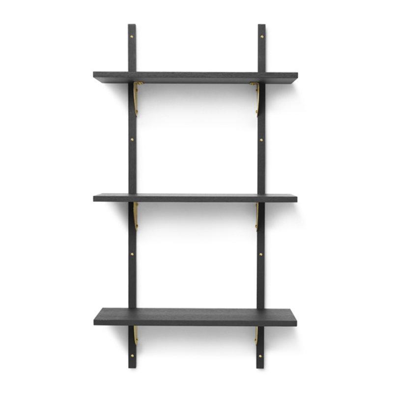 ferm LIVING-collectie Houten wandrek Sector T/N - zwart Ash-Brass