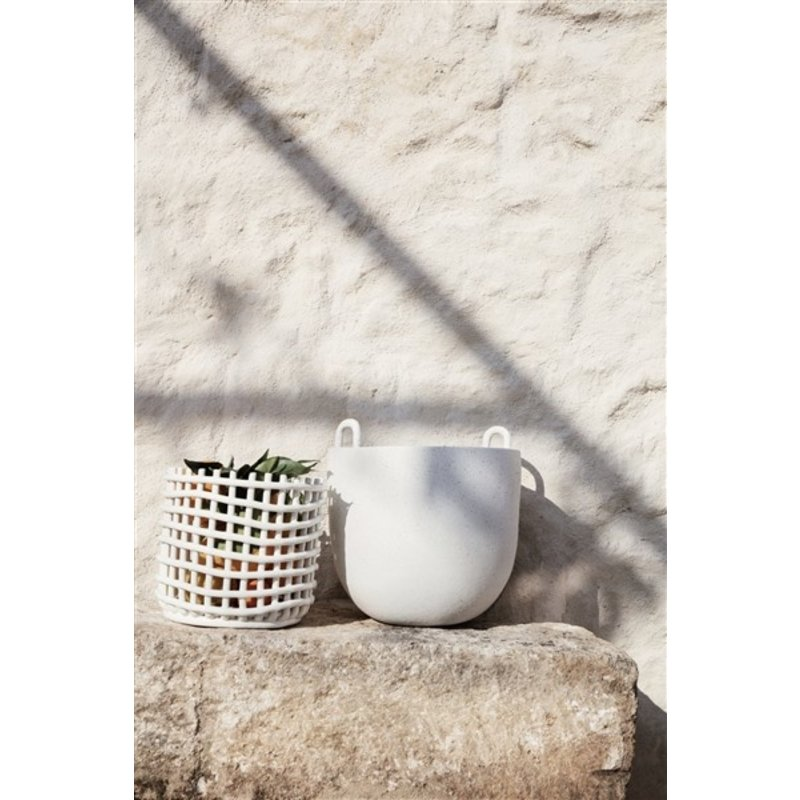 ferm LIVING-collectie Speckle Pot - Large - Off-White