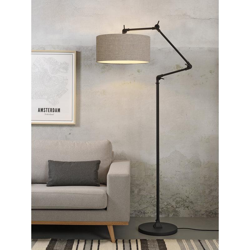 it's about RoMi-collectie Vloerlamp Amsterdam kap 4723cm, d.linnen