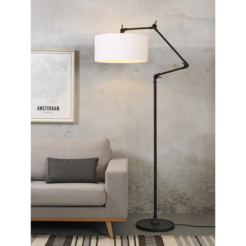it's about RoMi-collectie Vloerlamp Amsterdam kap 4723cm, wit