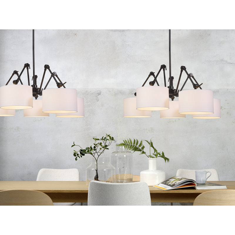 it's about RoMi-collectie Chandelier Amsterdam shade 3220, white