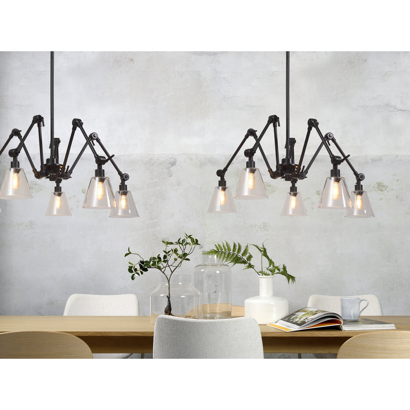 it's about RoMi-collectie Chandelier Amsterdam glass shade clear