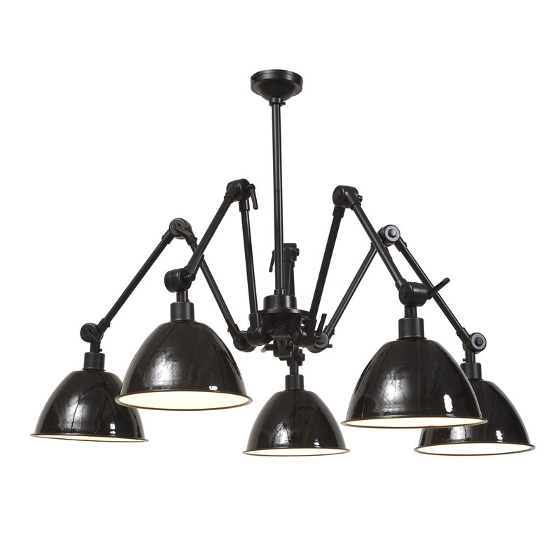 it's about RoMi-collectie Chandelier Amsterdam enamel shade black