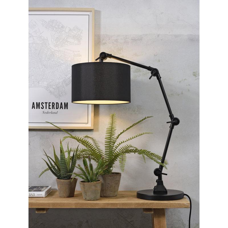 it's about RoMi-collectie Tafellamp Amsterdam kap 3220, zwart