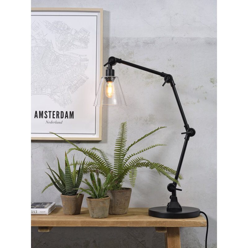 it's about RoMi-collectie Table lamp Amsterdam glass shade clear