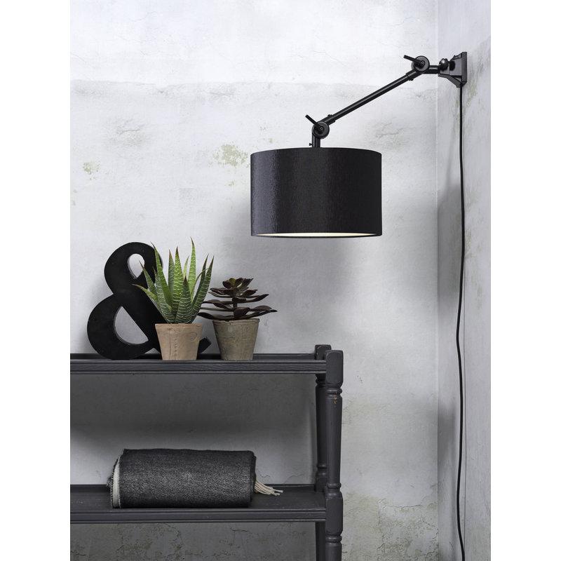 it's about RoMi-collectie Wandlamp Amsterdam kap 3220 zwart, S