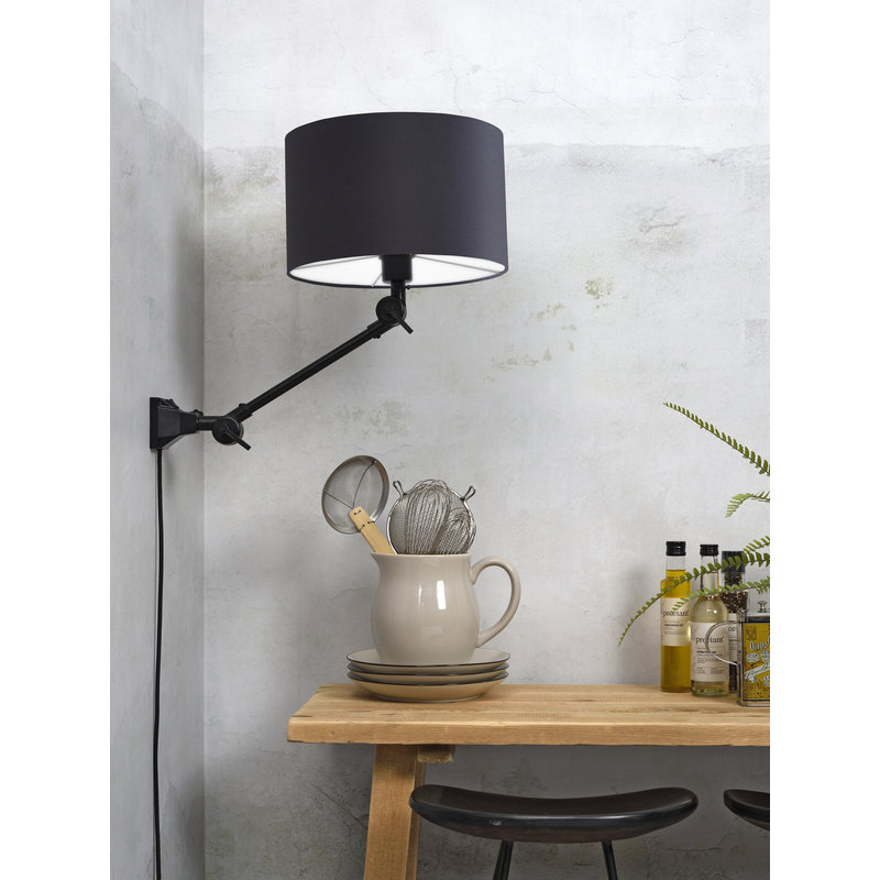 it's about RoMi-collectie Wall lamp Amsterdam shade 3220 d.grey, S