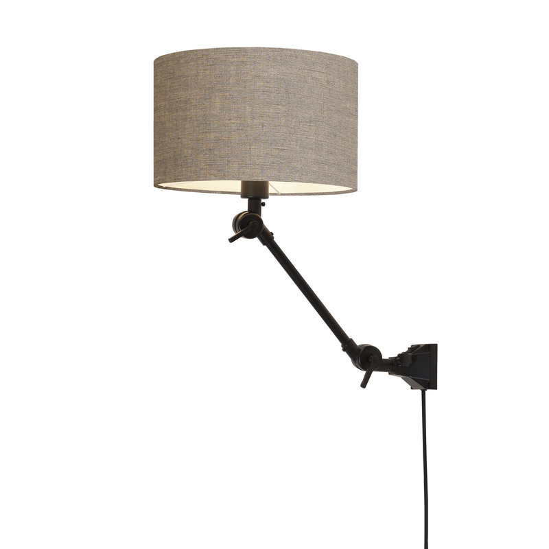 it's about RoMi-collectie Wandlamp Amsterdam kap 3220 d.linnen, S