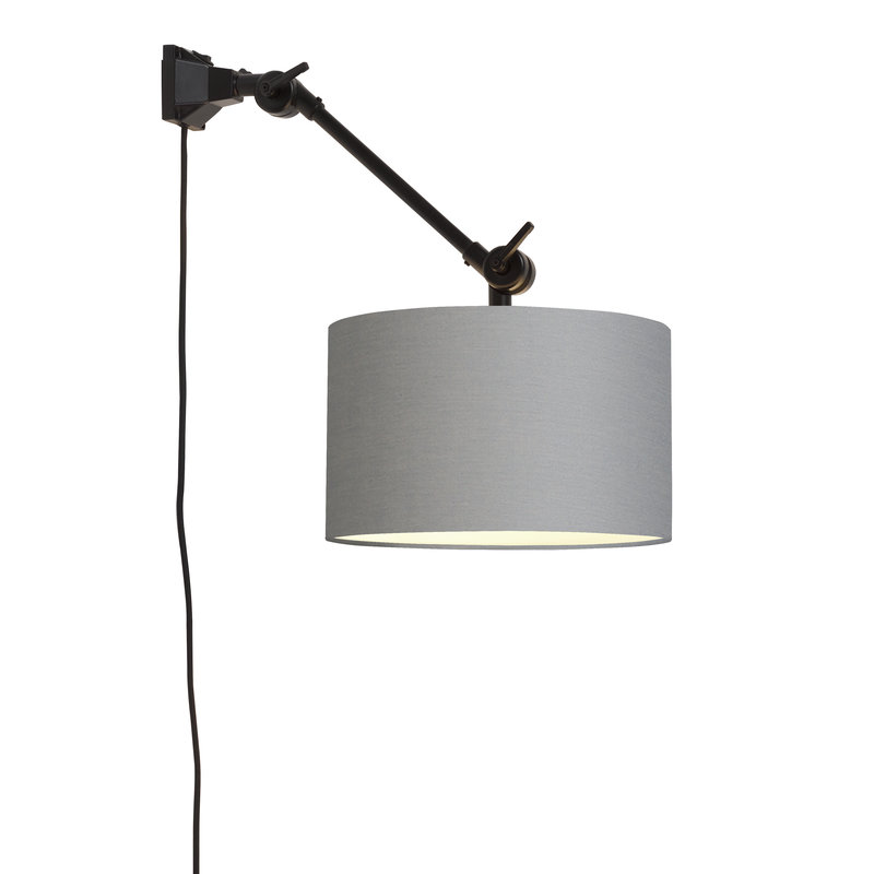 it's about RoMi-collectie Wandlamp Amsterdam kap 3220 l.grijs, S
