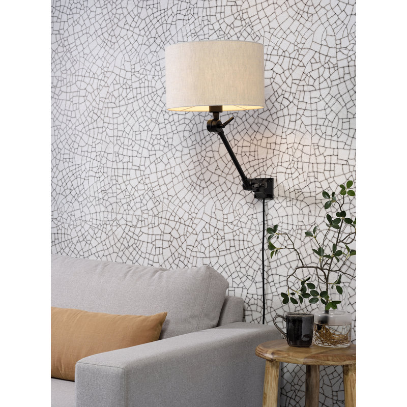 it's about RoMi-collectie Wall lamp Amsterdam shade 3220 l.linen, S
