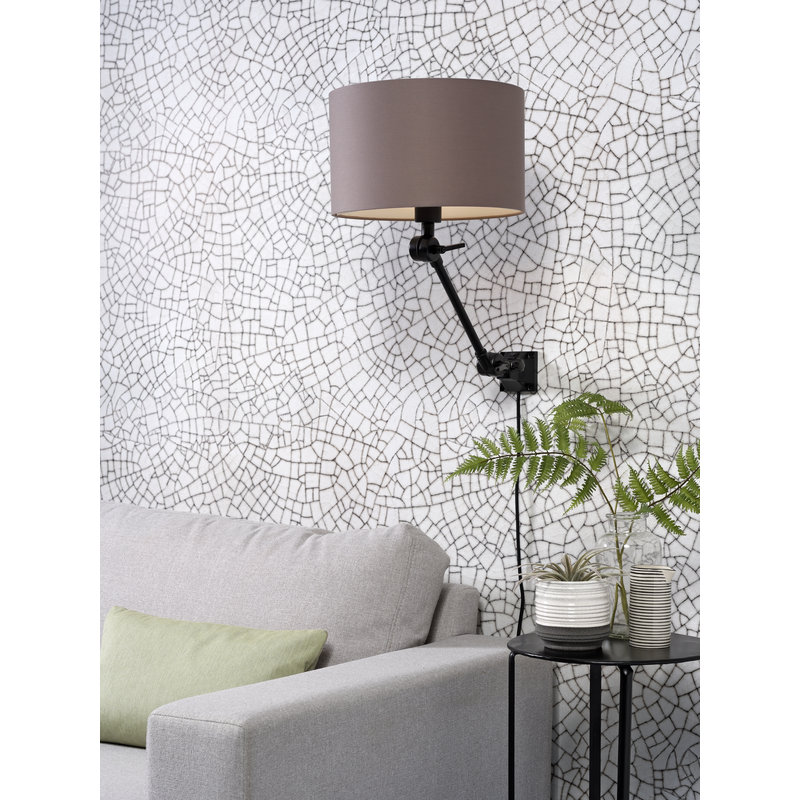 it's about RoMi-collectie Wandlamp Amsterdam kap 3220 sand grey, S
