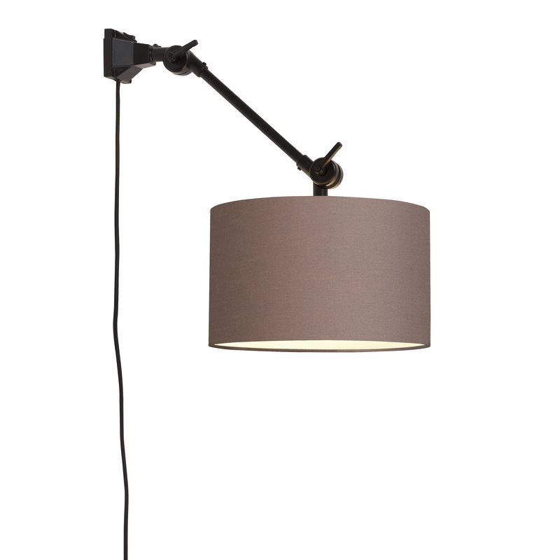 it's about RoMi-collectie Wall lamp Amsterdam shade 3220 sand grey, S