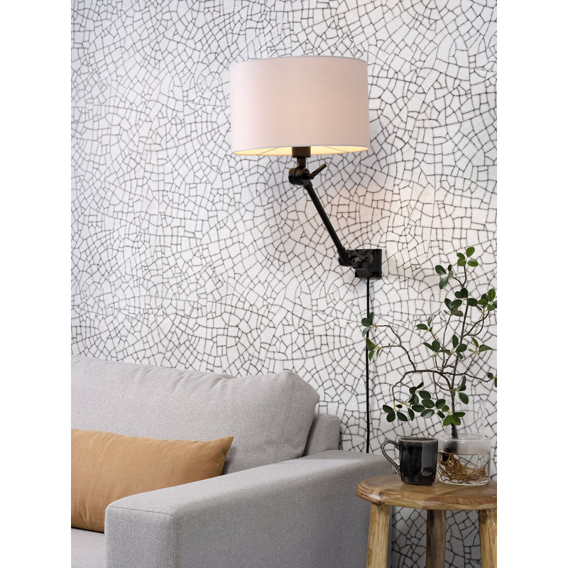 it's about RoMi-collectie Wandlamp Amsterdam kap 3220 taupe, S