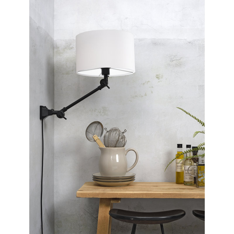 it's about RoMi-collectie Wall lamp Amsterdam shade 3220 white, S