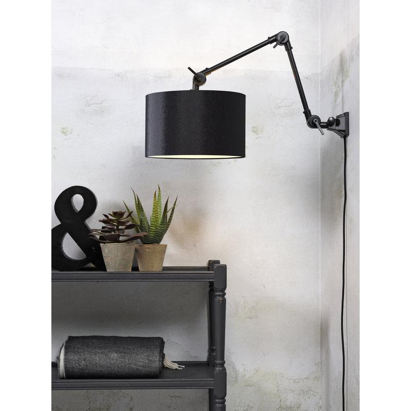 it's about RoMi-collectie Wandlamp Amsterdam kap 3220cm zwart, M