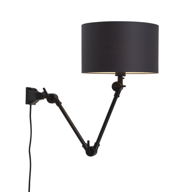 it's about RoMi-collectie Wall lamp Amsterdam shade 3220cm d.grey, M