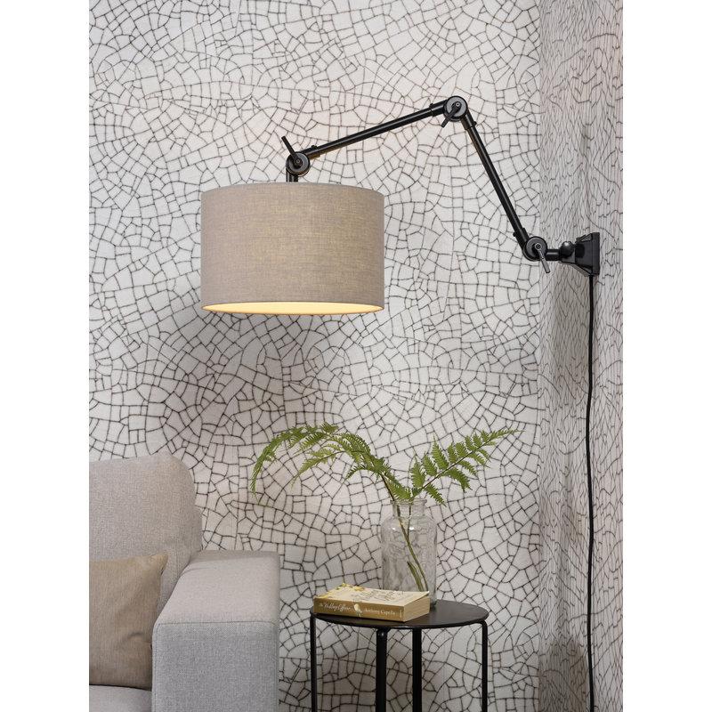 it's about RoMi-collectie Wandlamp Amsterdam kap 3220cm d.linnen, M