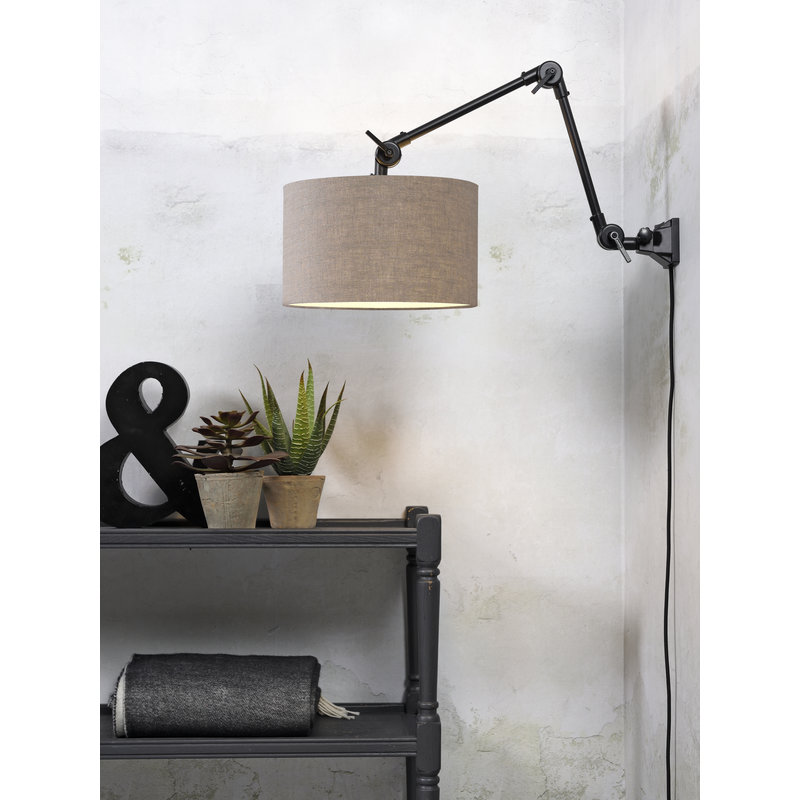 it's about RoMi-collectie Wall lamp Amsterdam shade 3220cm d.linen, M