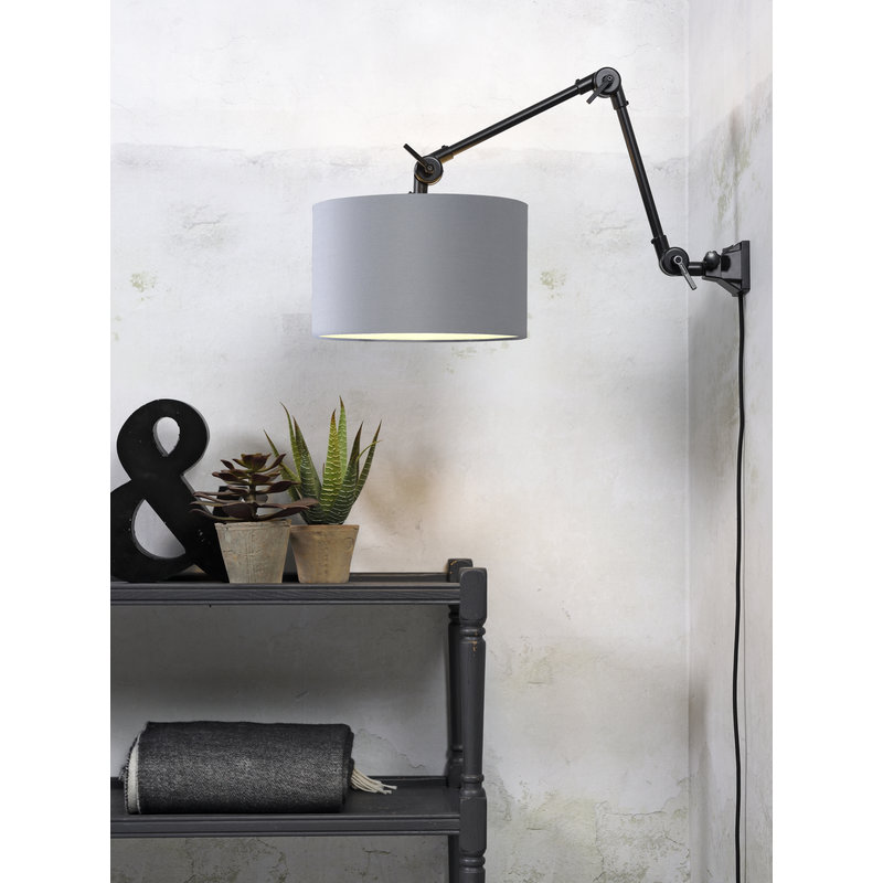 it's about RoMi-collectie Wall lamp Amsterdam shade 3220cm l.grey, M